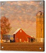 Minnesota Farm At Sunset Acrylic Print