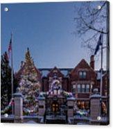 Christmas Lights Series #6 - Minnesota Governor's Mansion Acrylic Print