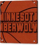 Minnesota Timberwolves Leather Art Acrylic Print