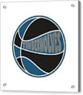 Minnesota Timberwolves Retro Shirt Acrylic Print