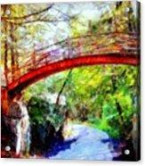 Minnewaska Wooden Bridge Acrylic Print