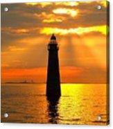 Minot's Ledge Lighthouse Acrylic Print by Joseph Gillette