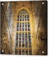 Minster Window Acrylic Print
