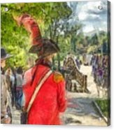 Minuteman And Redcoat Concord Ma Pencil Acrylic Print