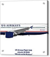Miracle On The Hudson - Us Airways A320 Acrylic Print