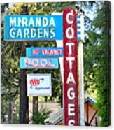 Miranda Gardens Acrylic Print