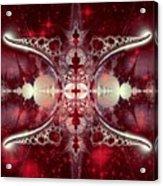 Mirror Gateway / Crop / Red Stars Acrylic Print