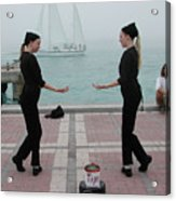 Mirror Mimes In Key West Acrylic Print