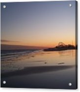 Mirror Reflection Beach Surf Acrylic Print