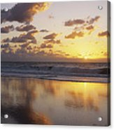 Mirrored Mexico Sunset Acrylic Print