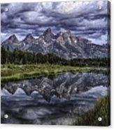 Mirrored Mountains Acrylic Print