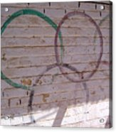 Miscolored Olympic Rings Acrylic Print
