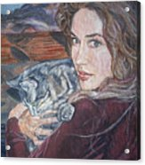 Misha The Cat Woman Acrylic Print