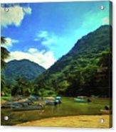 Mismaloya River Fishing Boats 0344 Acrylic Print