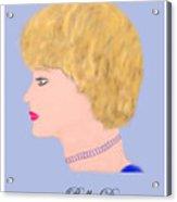 Miss Bella Donna Acrylic Print