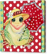 Miss Belle Frog Acrylic Print