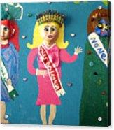 Miss Bo Leg Usa Acrylic Print