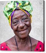 Miss Cuba Acrylic Print