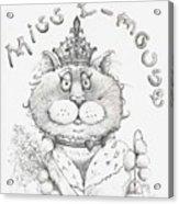 Miss E-mouse Acrylic Print