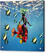 Miss Fifi New Friends In The Ocean Acrylic Print