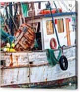 Miss Hale Shrimp Boat - Side Acrylic Print