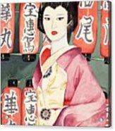 Miss Hanamaru At Osaka Festival Acrylic Print
