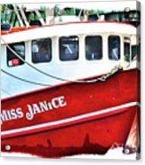 Miss Janice Acrylic Print