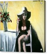 Miss Lonely Hearts Acrylic Print