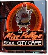 Miss Polly's Soul City Cafe Acrylic Print