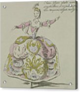 Miss Puvigne As Air, In Zoroastre, A Libretto By Cahusac Acrylic Print