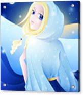 Miss Winter-night Acrylic Print