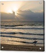 Mission Beach Surfer Acrylic Print