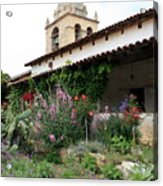Mission Bells And Garden Acrylic Print
