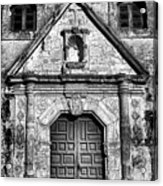 Mission Concepcion Front - Classic Bw Acrylic Print