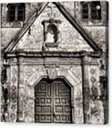 Mission Concepcion Front - Toned Bw Acrylic Print