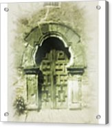 Mission Espada Chapel Door Acrylic Print