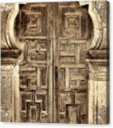 Mission Espada Door - 4 Acrylic Print