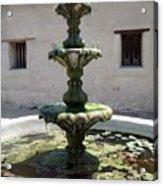 Mission Fountain Acrylic Print