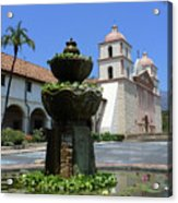 Mission Fountain Acrylic Print