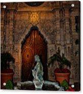 Mission Inn Chapel Fountain Acrylic Print