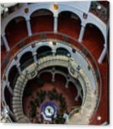 Mission Inn Circular Stairway Acrylic Print