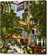 Mission Inn Spanish Patio 1940s Acrylic Print