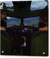 Mission Over Germany - Oil Acrylic Print