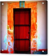 Mission Red Door Acrylic Print
