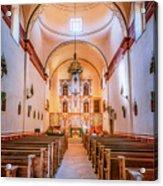 Mission San Jose Chapel Glow Acrylic Print