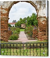 Mission San Luis Rey Carriage Arch Acrylic Print