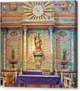 Mission San Miguel Arcangel Altar, San Miguel, California Acrylic Print