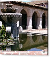 Mission San Miguel Fountian 2 Acrylic Print