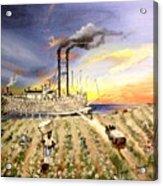 Mississippi Cotton Boat Acrylic Print by Terri Kilpatrick