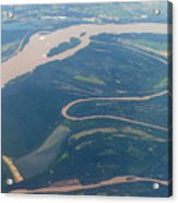 Mississippi River Aerial Shot Acrylic Print